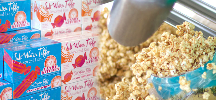 Saltwater Taffy and Caramel Corn