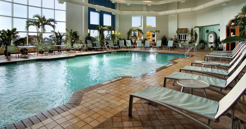 Ocean City Hilton indoor pool.