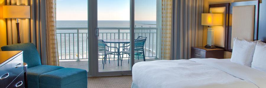 Luxury oceanfront king suite.