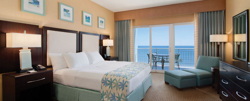 Luxury oceanfront king suite.