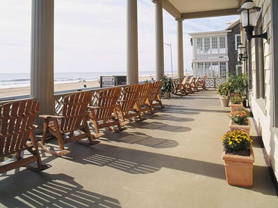 Corner room has great views of the boardwalk and beach.