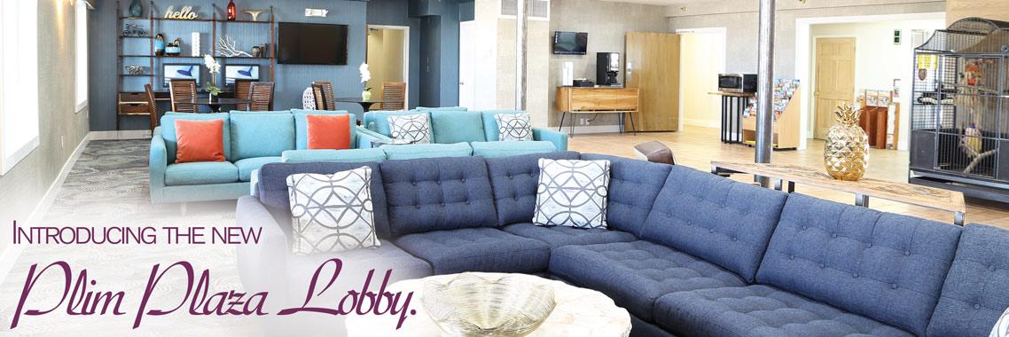 Brand new Plim Plaza Hotel lobby!