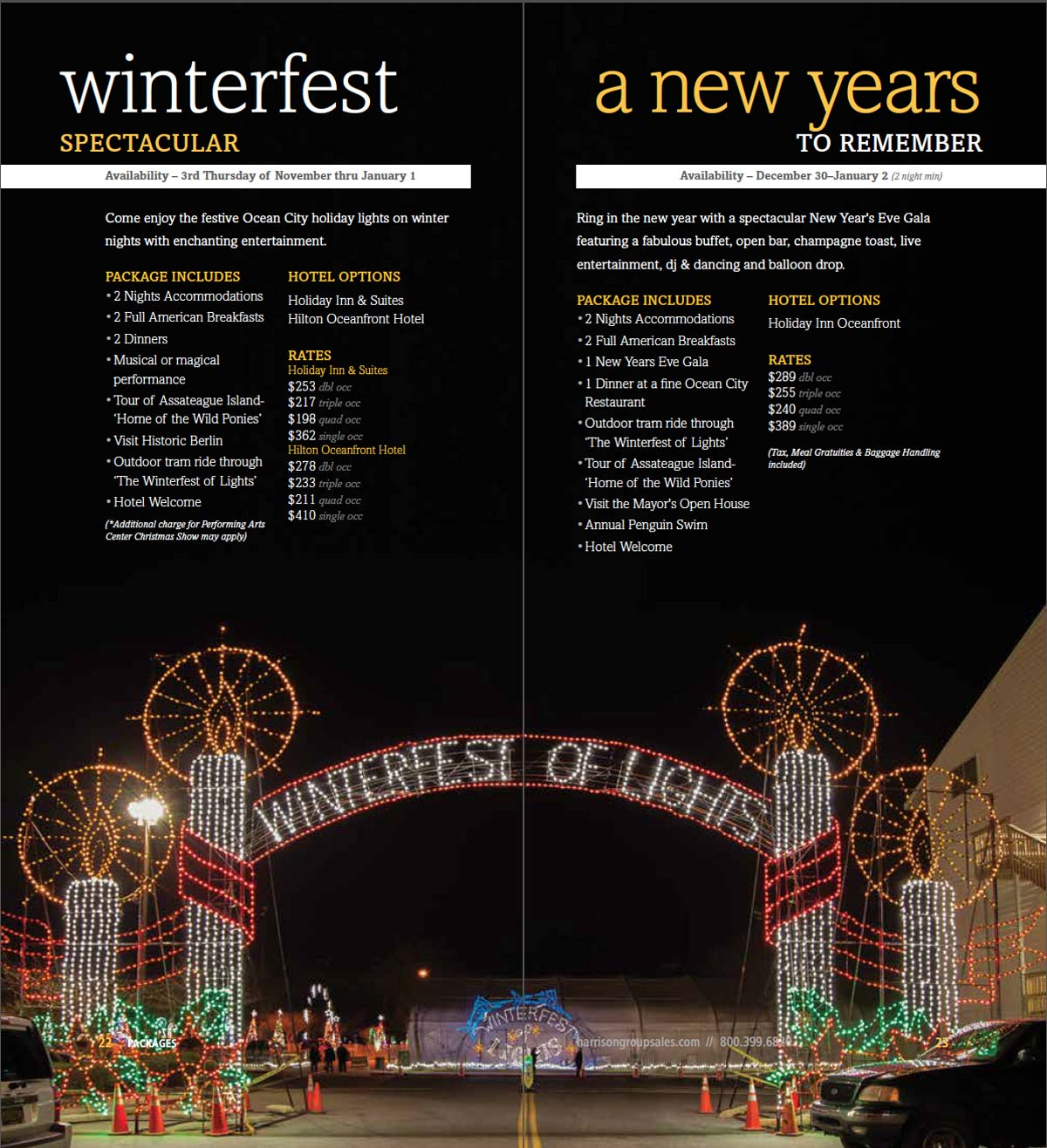 Harrison Group Sales Winterfest and New Years Eve packages