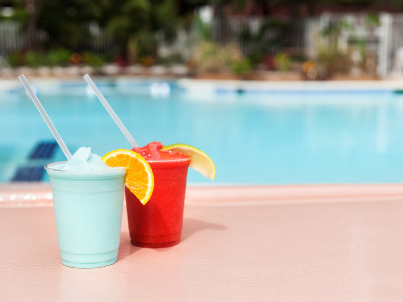 Drinks at the swim-up pool bar