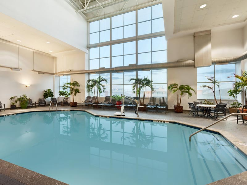 Heated indoor pool hot tub and fantastic view
