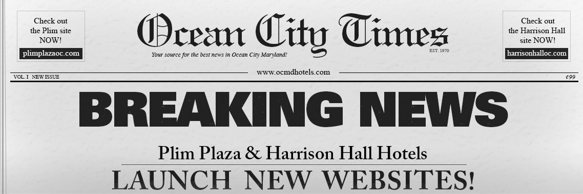 Harrison Hall and Plim Plaza new website announcement