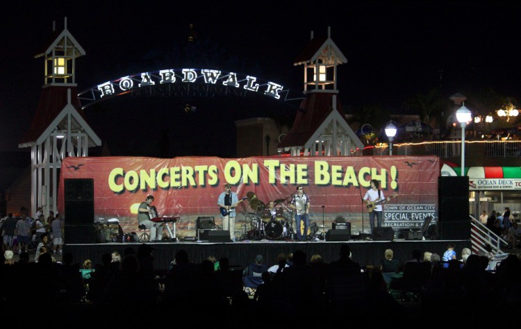 Concerts on the beach in Ocean City.