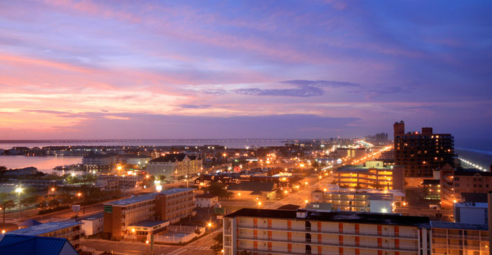 Ocean City nighttime skyline