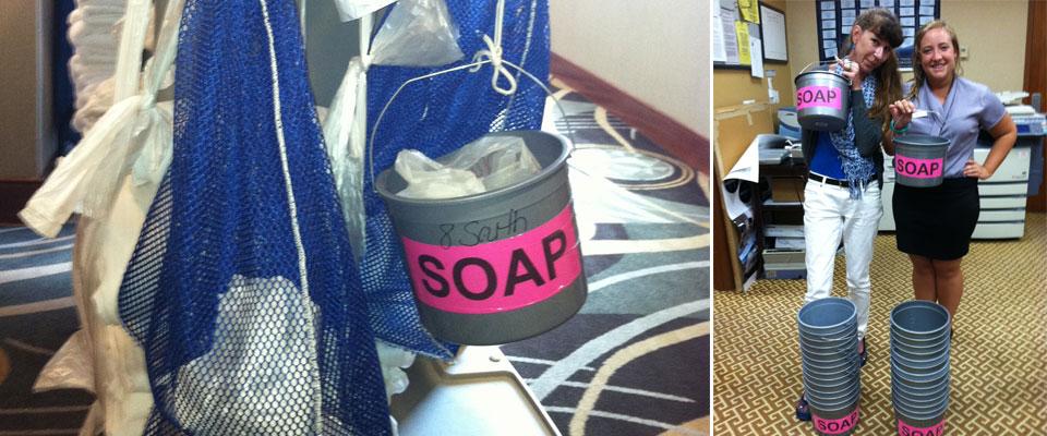 The Global Soap Project, Hilton Suites Participates