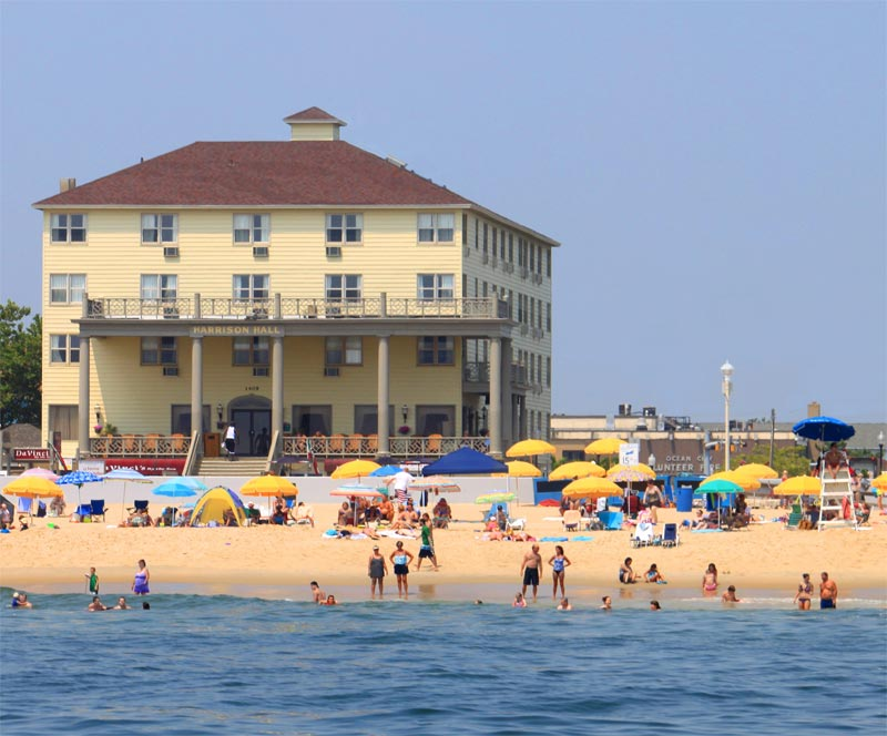 Harrison Hall is directly on the Ocean City Boardwalk close to bike rentals, shopping & more!