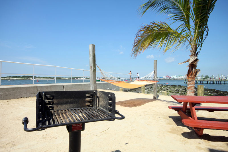 Cook out and enjoy a bay breeze.