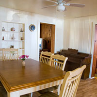 Spacious Dining Room in the downstairs cottage.