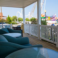 Oceanic Cottages are directly across the street from all the downtown amusements.