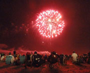 free fireworks on ocean city maryland's beaches