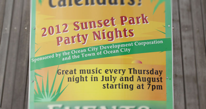 Sunset Park Concerts every Thursday in July and August 2012.