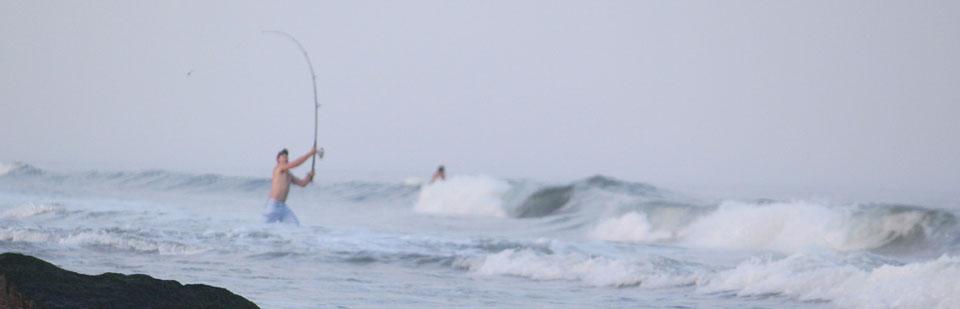Surf fishing in Ocean City