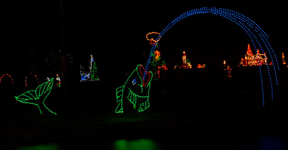winterfest of lights christmas display at north side park in ocean city - Christmas Lights Maryland