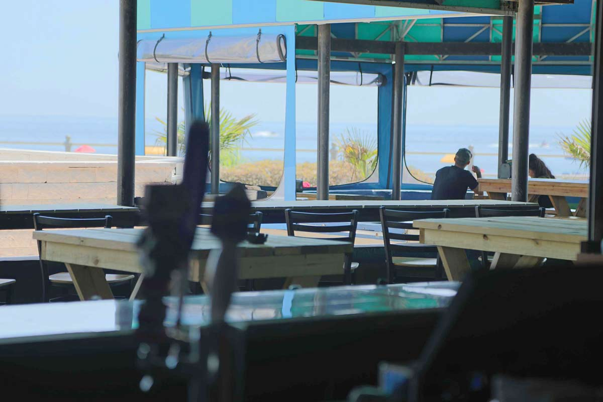 Oceanfront dining at Calypso Bar & Grill