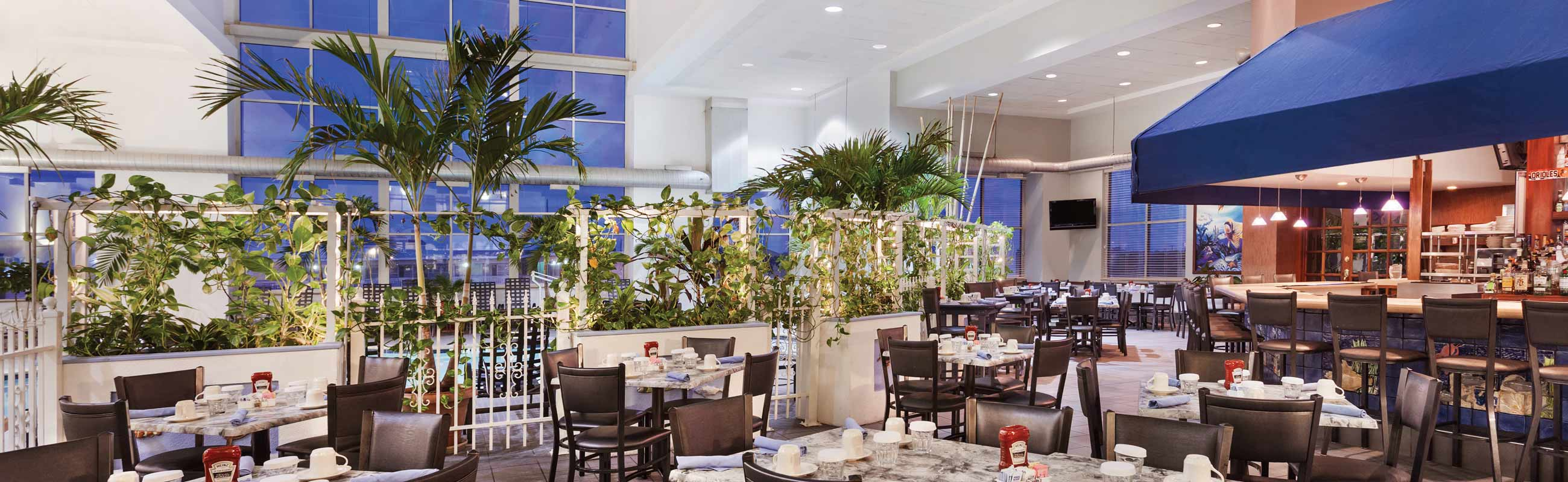 flavorful dining experiences in a 3-story atrium
