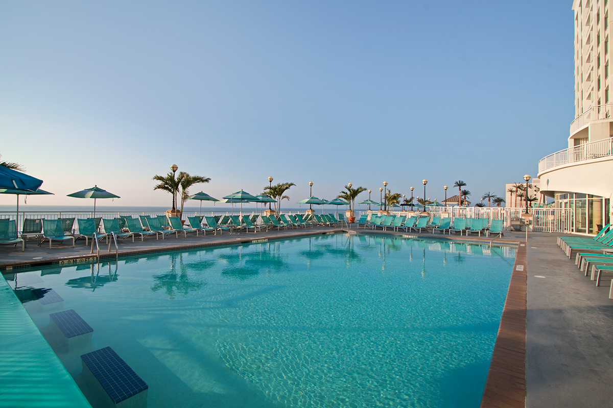 Relax after a tough meeting by our oceanfront pool
