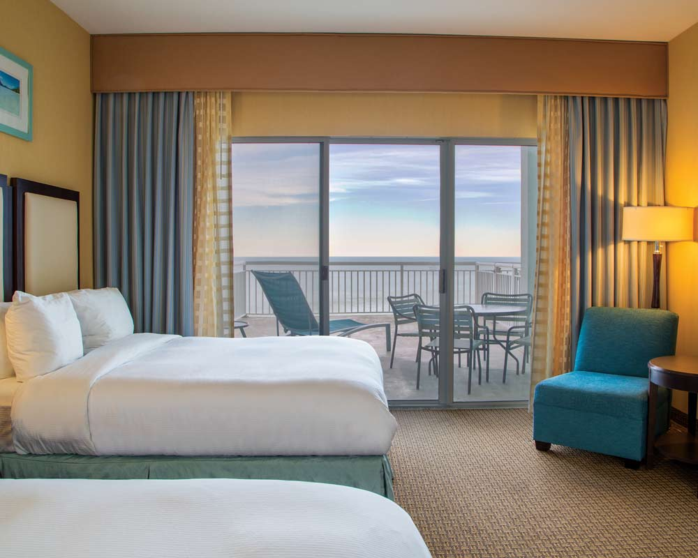 Luxury accommodations, and large private balconies for you and your guests
